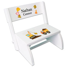 Personalized Construction Childrens Stool