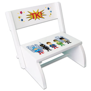 Personalized Boys Super Hero Childrens Stool