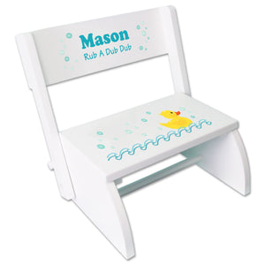 Personalized Rubber Ducky Childrens Stool