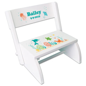 Personalized Sea animal Childrens Stool