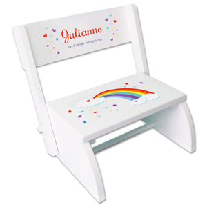 Personalized Rainbow Childrens Stool