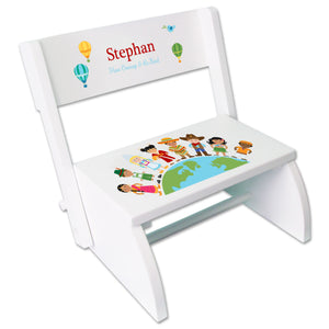 Personalized Small World WhiteStool
