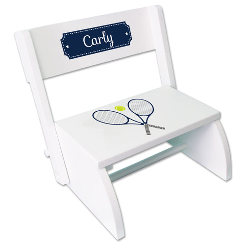 Personalized Tennis WhiteStool