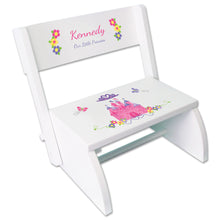 Personalized Princess Castle Childrens Stool