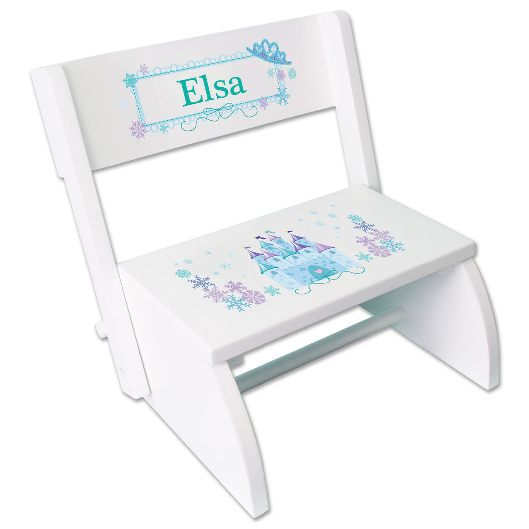 Personalized-Ice Princess Castle Childrens Stool