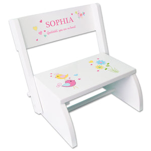 Personalized Lovely Birds Childrens Stool