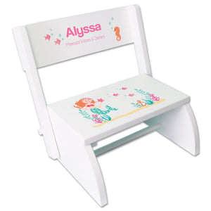Personalized Mermaid Princess Childrens Stool