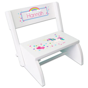 Personalized Unicorn Childrens Stool