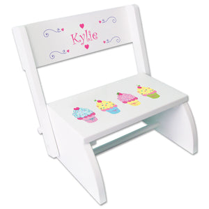 Personalized Cupcakes Childrens Stool