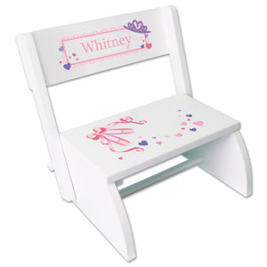 Personalized Ballet Princess Childrens Stool