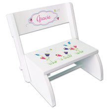 Personalized English Garden Childrens Stool