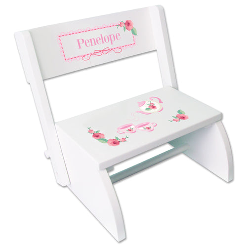 Personalized Tea Party Childrens Stool