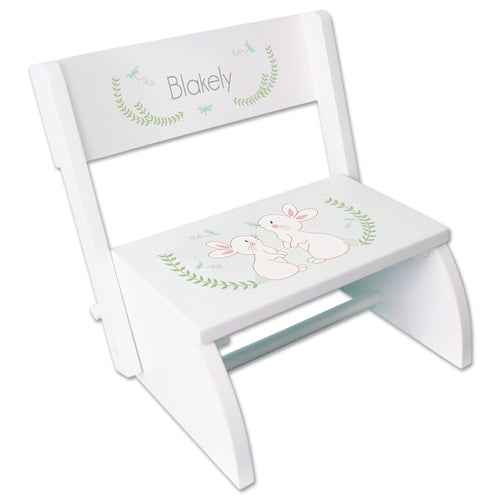 Personalized Classic Bunny WhiteStool