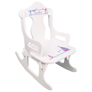 Girl's Sailboat Puzzle Rocker