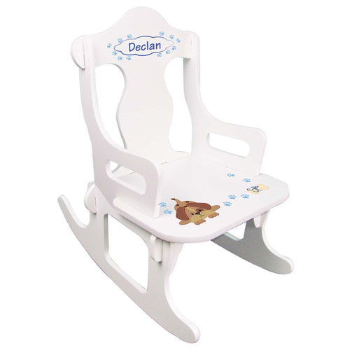 Blue Puppy Puzzle Rocker
