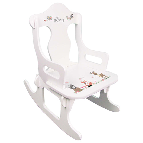 Gray Woodland Puzzle Rocker