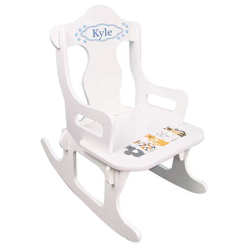 Blue Cats Puzzle Rocker