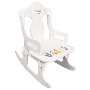 Pink Cats Puzzle Rocker
