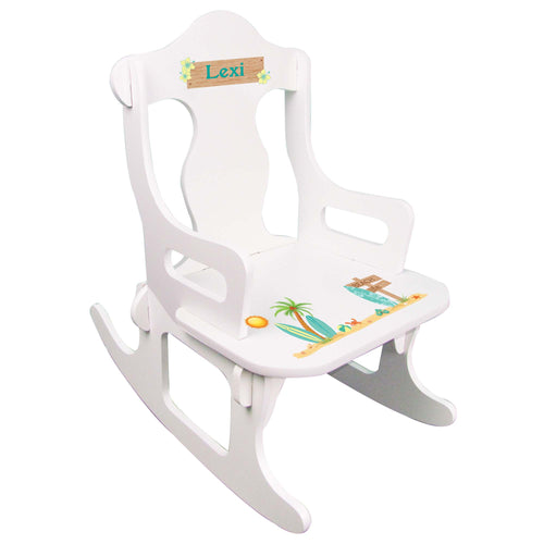 Personalized Surfs Up Puzzle Rocker
