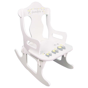 Yellow Elephant Puzzle Rocker