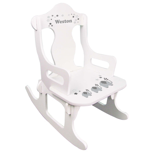 Gray Elephant Puzzle Rocker