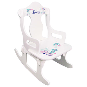 Pink Teal Paisley Puzzle Rocker