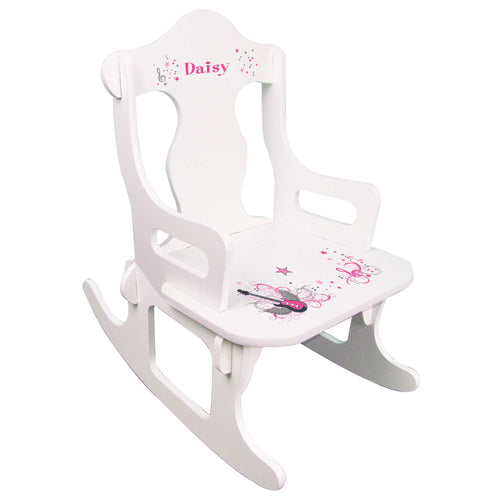 Pink Rock Star Puzzle Rocker