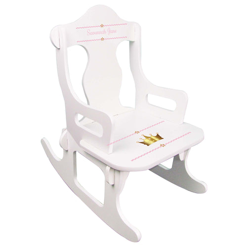 Pink Princess Crown Puzzle Rocker