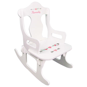 Girl's Tribal Arrow Puzzle Rocker