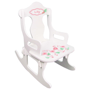 Palm Flamingo Puzzle Rocker
