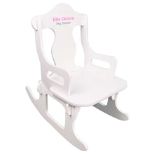 personalized childs puzzle rocking chair