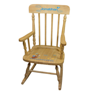 Noah's Ark Natural Spindle Rocking Chair