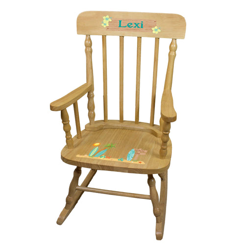 Surfs Up Natural Spindle Rocking Chair