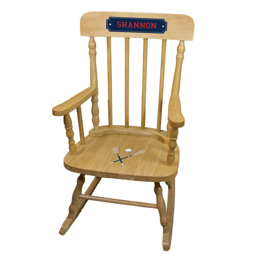 Lacrosse Sticks Natural Spindle Rocking Chair