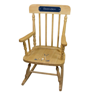Golf Natural Spindle Rocking Chair