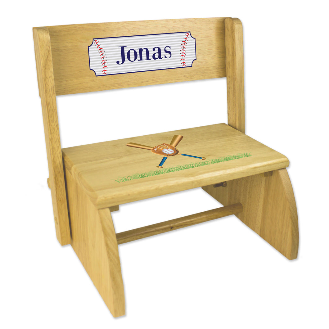 Personalized Baseball NaturalStool