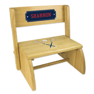 Personalized Lacrosse Sticks NaturalStool