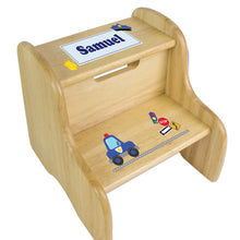 Personalized Police Natural Two Step Stool