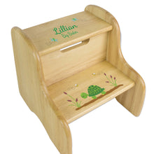 Turtle Natural Wood Two Step Stool
