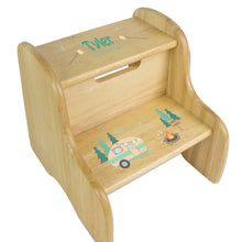 Camp S'mores Natural Wood Two Step Stool
