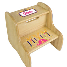 Personalized A Star Is Born Pink Natural Two Step Stool