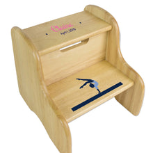 Gymnastics Natural Wood Two Step Stool