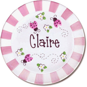 Personalized Ceramic Lady Bug Plate