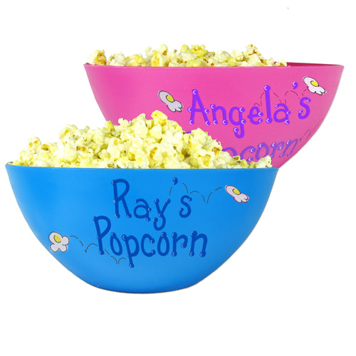 Personalized Popcorn Bowl