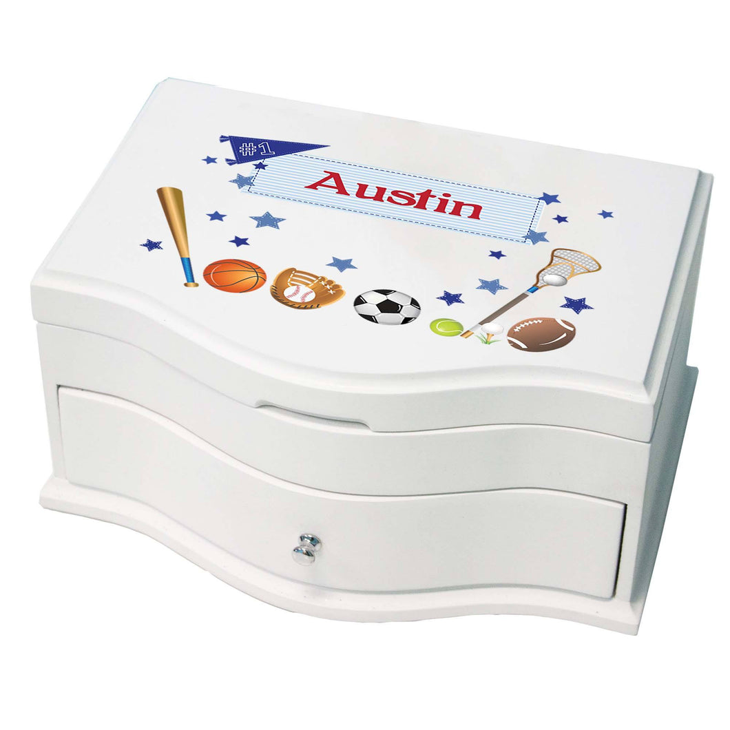 Princess Girls Jewelry Box with Sports design