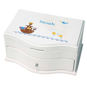 Princess Girls Jewelry Box with Noahs Ark design
