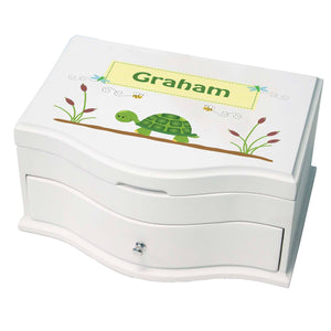 Princess Girls Jewelry Box with Turtle design