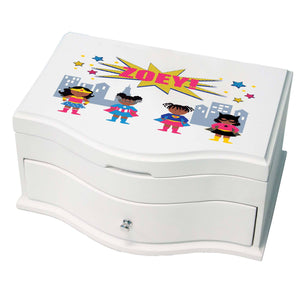 Princess Girls Jewelry Box with Super Girls African American design