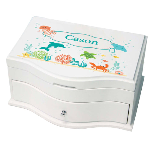 Princess Girls Sea Life Jewelry Box