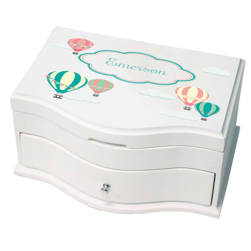 Princess Girls Jewelry Box with Hot Air Balloon design